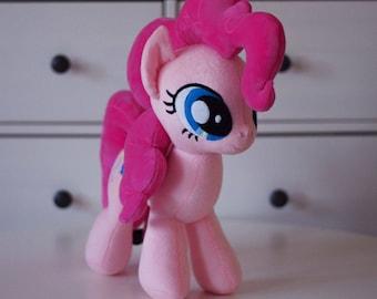 Stuffed Pinkie Pony Plushie Soft Toy