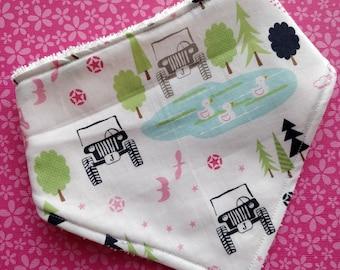 Cotton or bamboo bandana dribble bib (choose backing fabric) - 4wd adventures