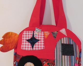 Handcrafted Handbag Cute Kitschy Camper Bag 10 x 9 x 3 Inches