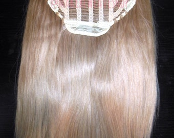 """28"""" 100% Russian Remy Human Hair One Piece Half Head Wig Clip In Hair Extension Premium Quality"""