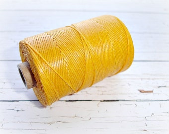4 ply Irish Waxed Linen Cord Sunflower Yellow - 1 Yard