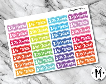 Dog Training Class Stickers for Planners or Calendars