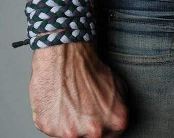 Braided Bracelet, Cuff Bracelet, Boyfriend Gift, Gift for Men, Festival Clothing, Mens Gift, Mens Bracelet, Husband Gift, Gift for Boyfriend