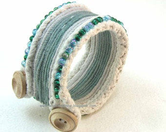 layers of green beaded cuff bracelet button toggle beaded cuff bracelet 2741