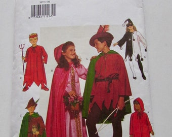 Robin Hood, Maid Marian, Devil, Jester, Red Riding Hood Child Size 6-8, Butterick 5673 - Uncut