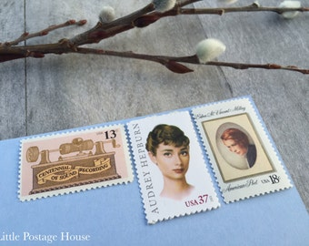Blush & Gold | Vintage Stamps | Unused Postage Stamps | For 5 Letters | 68 Cents