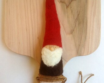 Traditional Winter Red and Brown Gnome-Waldorf Inspired