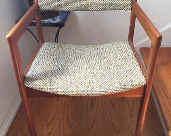 4 Mid Century Modern Danish Style Arm Chairs