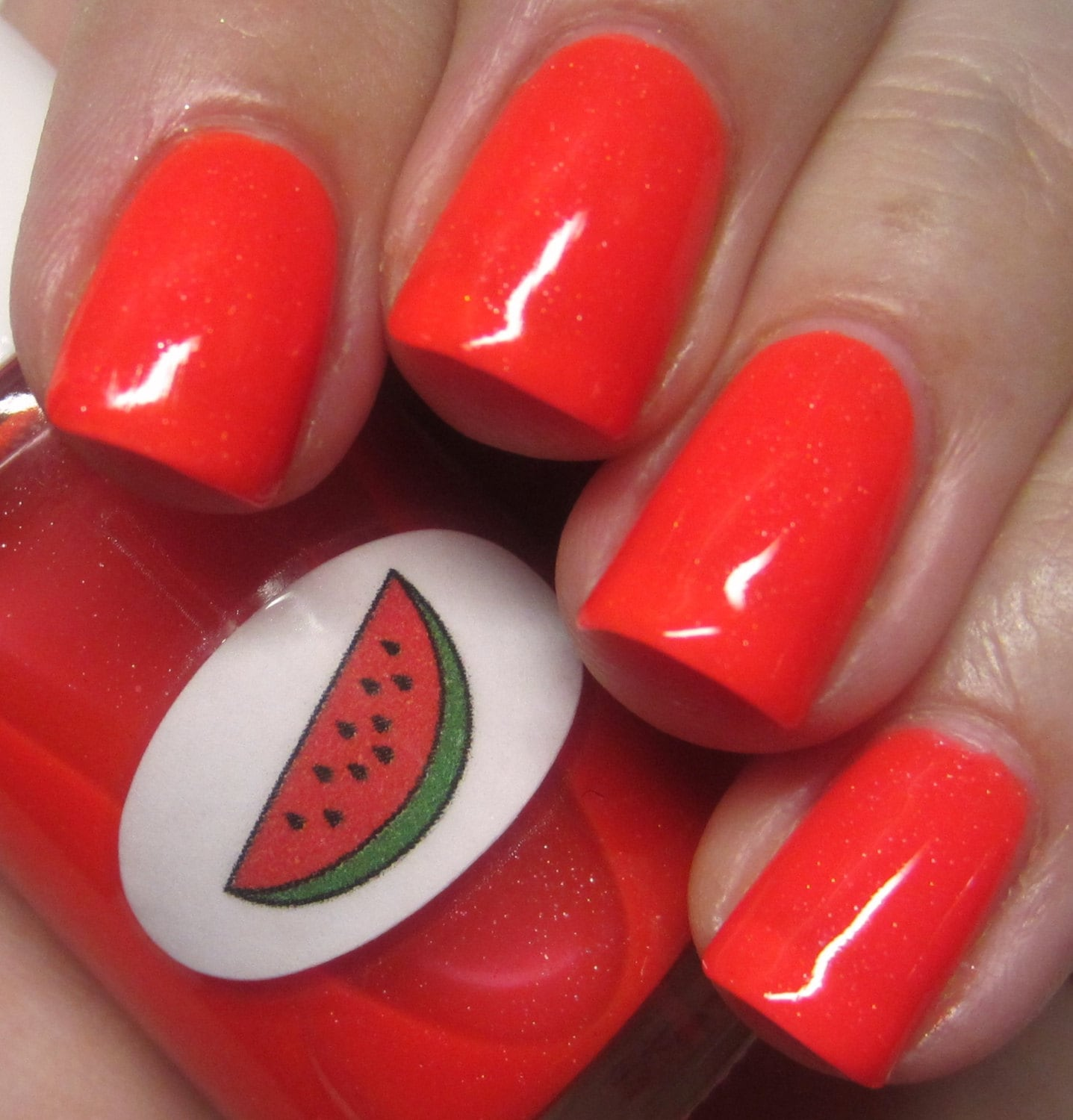 Shimmer Jelly Watermelon Nail Polish