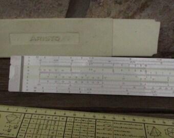 "Vintage Germany Big Logarithmic Ruler ""ARISTO"", Old  Ruler Logarithmic,Logarithmic Engineering Slide Ruler, Measuring Tool, Construction"