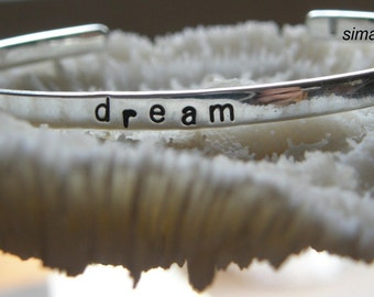 Say What You Want To Say ---price is for ONE -- - - - Say Anything  On YOUR cuff---Custom sterling silver  By - SimaG