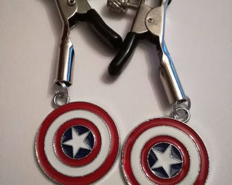 Captain America Shield Nipple Clamps