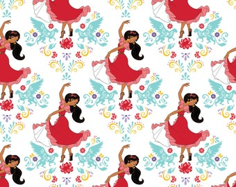 Disney Fabric- Elena of Avalor - Dance in White, Camelot, 1 yard