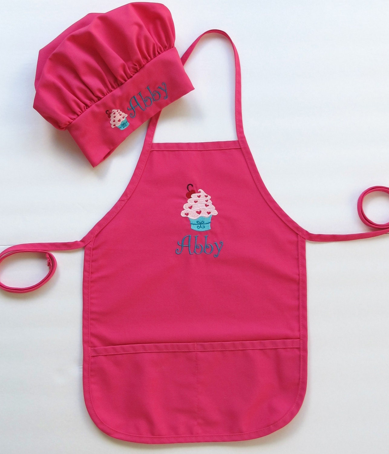 Popular Personalized Apron AND Chef Hat for Kids Childrens MQ29