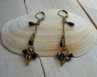 Multi enamelled charms earrings
