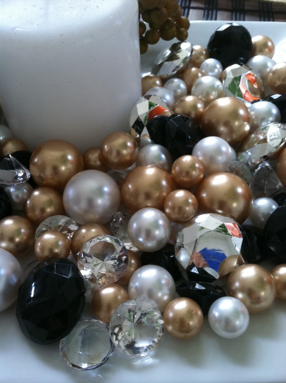 Diamonds and pearls holiday bowlvase fillers black gold zoom reviewsmspy
