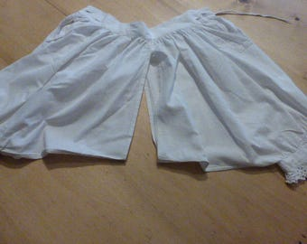 Child's Victorian Bloomers, Antique, French,Edwardian Circa 1900 Lace Edged Legs.