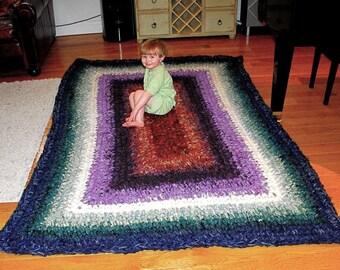 Crocheted Granny Rug Pattern PDF