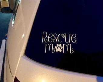 Rescue Mom Car Decal