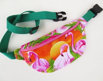 Flamingo Print Fanny Pack