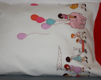 Micheal Miller  Children at Play on Parade     Travel/Toddler   Pillowcase