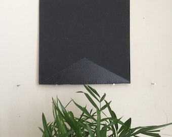 "Black Triangle 013, 8""x8"" painting on oak plywood"