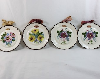 Vintage California Cleminsons Pottery Wall Plaques Plates Set of 4