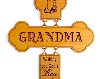 Grandma Birthday Gift - Gift for Grandmother from Grandkids - Mothers Day Grandma from Grand kids - Wall Cross