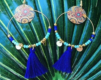 BAHIA colorful and golden spring summer earrings