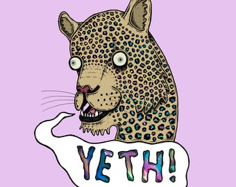 Yeth! Cat Holographic Sticker