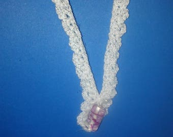Crocheted Necklaces with ceramic or glass beads