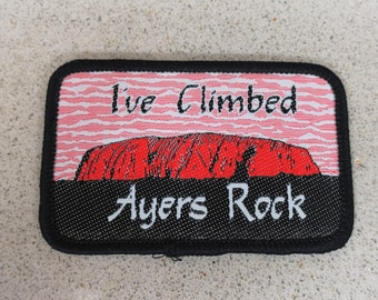 Vintage Ayers Rock Northern Australia Patch