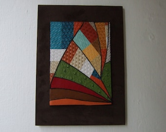 Arc original mixed media collage wall art