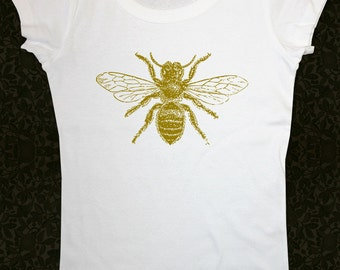 Bee 1 Shirt - Women's Short Sleeve Scoop Neck Cotton T-Shirt Contoured Fit