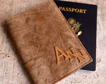 Personalized Passport Cover - Personalized Passport Holder - Passport Wallet - Leather Passport Cover - Personalized Gift - Men Accessories