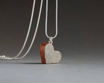 Recycled Paper Heart Necklace, 1st Anniversary Gift