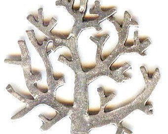 DESTASH Tree of Life Antique Silver Charms Pendants Beads 6 Pieces 28mm