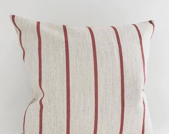 Stripe Pillow Cover, Linen Pillow Cover, Christmas Pillow Cover, Textured Pillow Covers, Christmas Pillow Cover, Stripe Pillow Cover