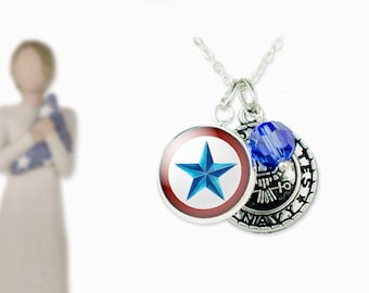 Blue star necklace etsy military blue star family blue star mom deployment jewelry blue star jewelry aloadofball Gallery