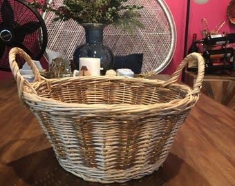 Basket with handles - Blonde and Brown!