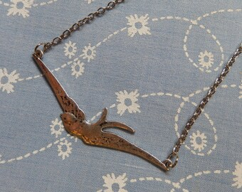 Flying Swallow Bird Pendant Necklace