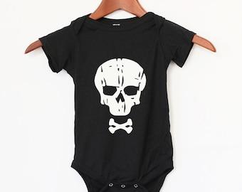 Baby Bodysuit Skull - Baby Clothing - Baby Bodysuit Best Gift - Baby Boy - Baby Girl - 100% Cotton