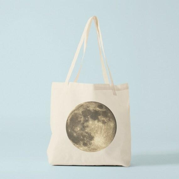 Full Moon tote bag.