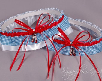 Wizard of Oz Wedding Garter Set