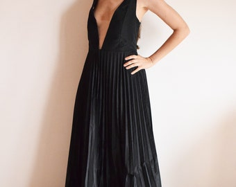 Hand made pleated long dress