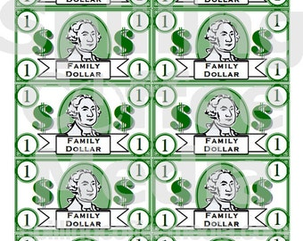 Family Money Instant Download - Reward Good Behavior, Grades or Doing Chores!  8x10 for Printing! Great Teaching Aid, Educational Toy!