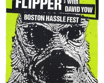Flipper Screen Print Concert Poster by Print Mafia