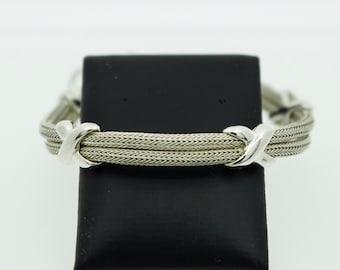 "A Silver Foxtail and ""kisses"" Bracelet     SKU791"