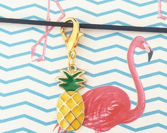 Pineapple Planner Charm, Stitch Marker, Zipper Pull