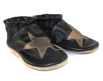 Soft Sole Leather Stars Baby Shoes 18 to 24 Month Eco Friendly